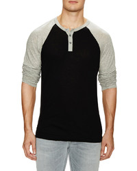 James Perse Cotton Cashmere Raglan Henley