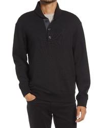 Vince Shawl Collar Cotton Blend Henley Sweater