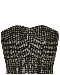 Raey Ry Cropped Herringbone Corset Top