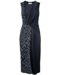 Jason Wu Panelled Herringbone Midi Dress