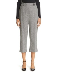 RED Valentino Wool Blend Herringbone Crop Pants