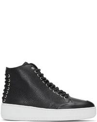 MCQ Alexander Ueen Black Netil Eyelet High Top Sneakers