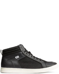 H&M Ankle High Sneakers Black
