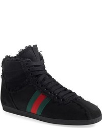 Gucci Bambi Genuine Shearling High Top Sneaker