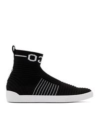 Hugo Black Knit Zero High Top Sneakers