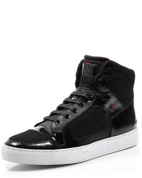 Hugo Boss Boss Fulseo High Top Sneakers With Patent Leather