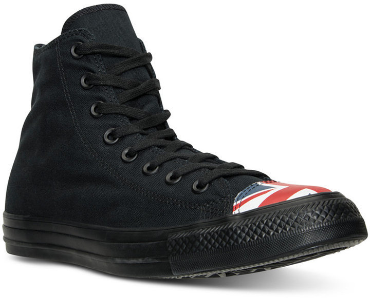 12e72d2963dfb3 ... Black High Top Sneakers Converse Chuck Taylor All Star Hi Flag Toe Cap Casual  Sneakers From Finish Line ...