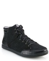 Saks Fifth Avenue Collection By Cole Haan Owen Leather Suede High Top Sneakers
