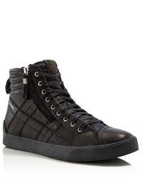 Diesel D Velows D String Plus Leather High Top Sneakers