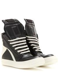 Rick Owens Geobasket Leather High Top Sneakers