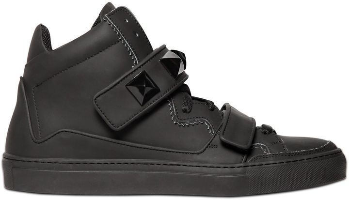 ... Giacomorelli Matte Leather High Top Sneakers 13971ed68d1