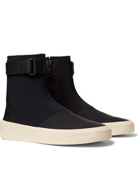 Fear Of God Leather Trimmed Neoprene High Top Sneakers