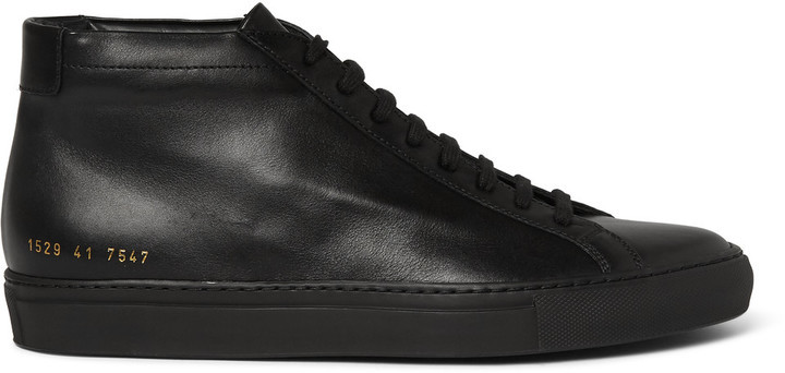 ... Common Projects Original Achilles Leather High Top Sneakers