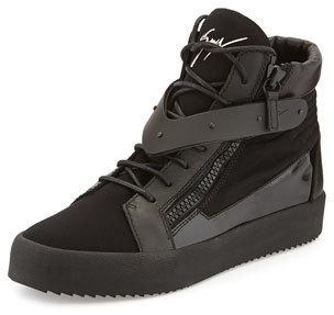 fcb19dbe685c3 ... Sneakers Giuseppe Zanotti Paneled High Top Sneaker ...