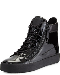 Patent leather high top sneaker medium 297974