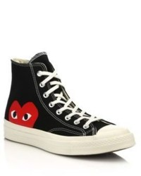 Comme des Garcons Play Peek A Boo Canvas Sneakers