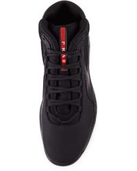 prada red nylon bag - Men's High Top Sneakers by Prada | Men's Fashion