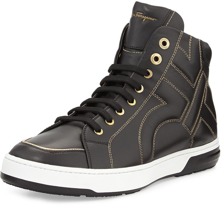 cheap for nice Salvatore Ferragamo Nicky High-Top Sneakers with mastercard cheap online cheap huge surprise from china online 7e5S9xTjL