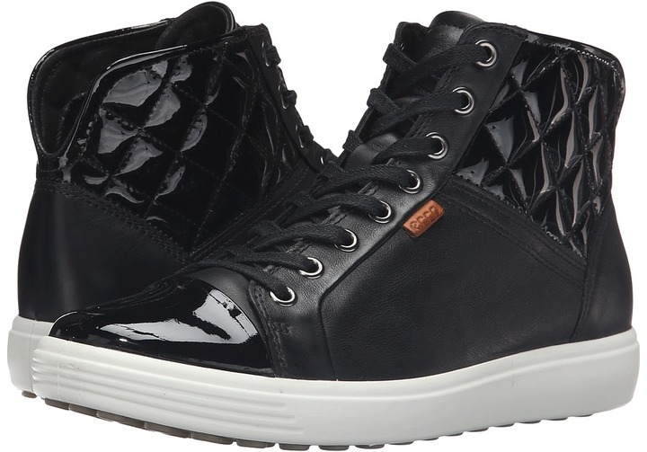 bd32722f Ecco Soft 7 Quilted High Top Lace Up Casual Shoes, $180 | Zappos ...