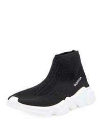 Balenciaga Stretch Knit High Top Trainer Noir