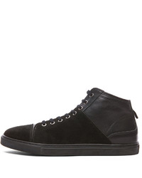 Neil Barrett Suede Leather Hightop Sneakers