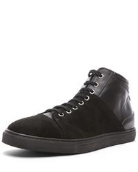 Neil Barrett Suede Leather Hightop Sneakers