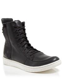 Diesel Tatradium Clummid Leather Exposed Zip High Top Sneakers