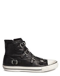 Ash Virgin Buckle Leather Sneakers