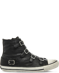 Ash Virgin Leather High Top Trainers