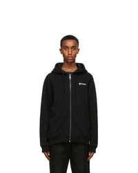 Burberry Black Asherby Zip Up Hoodie