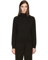 Calvin Klein Collection Black Cashmere Camino Hoodie