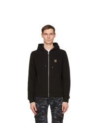 Belstaff Black French Terry Zip Hoodie