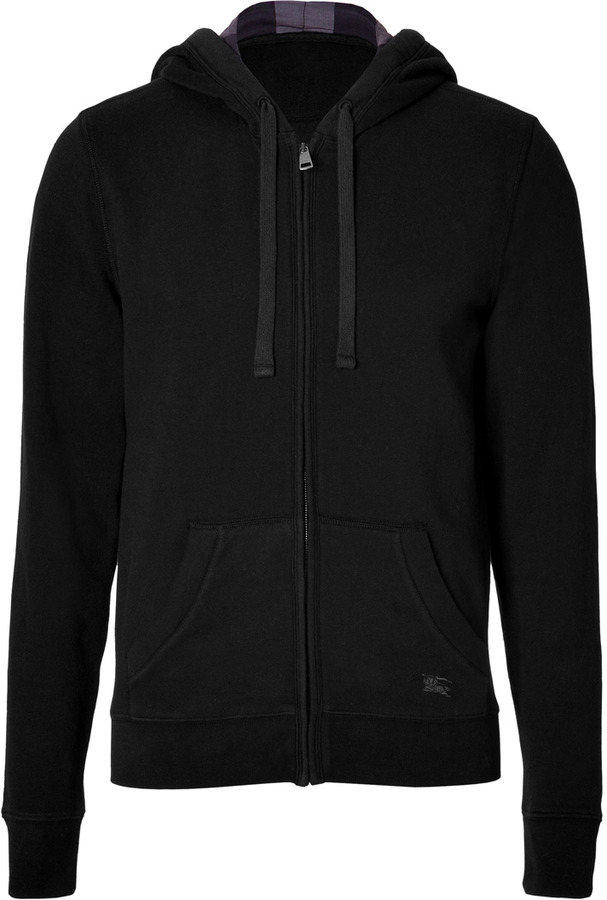 Burberry Chester In Brit Blend Hoodie Black Cotton qnFr108wxF