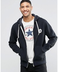 667667dea7a9 ... Converse Chuck Zip Up Hoodie In Black 10002131 A02