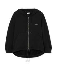 Balenciaga Cocoon Printed Stretch Cotton Blend Jersey Hoodie