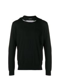 Ermenegildo Zegna Contrast Collar Hooded Sweatshirt