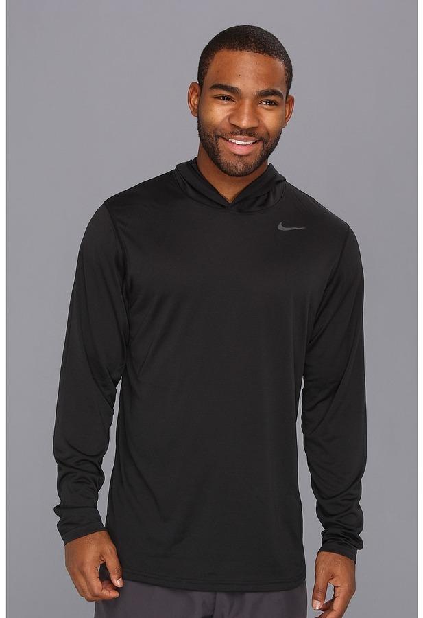 f9268557 ... Black Hoodies Nike Dri Fit Touch Long Sleeve Hoodie Long Sleeve Pullover