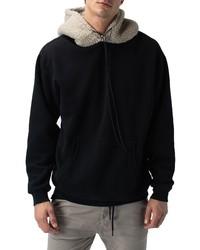 Zanerobe Faux Shearling Hooded Sweatshirt
