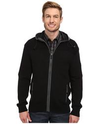 DKNY Jeans Long Sleeve Full Zip Sport Sweater W Hoodie