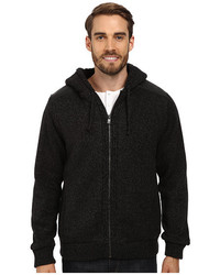 DKNY Jeans Ls Sherpa Lined Full Zip Hooded Sweater