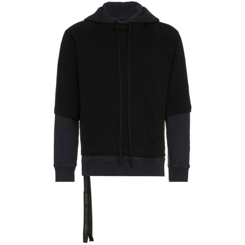 Unravel Project Layered Cotton Hoodie
