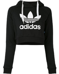 adidas Logo Cropped Hoodie