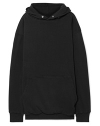 Balenciaga Oversized Embroidered Cotton Jersey Hoodie