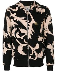 Patterned zip hoodie medium 5248495