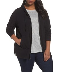 Plus size zip front hoodie medium 5262593