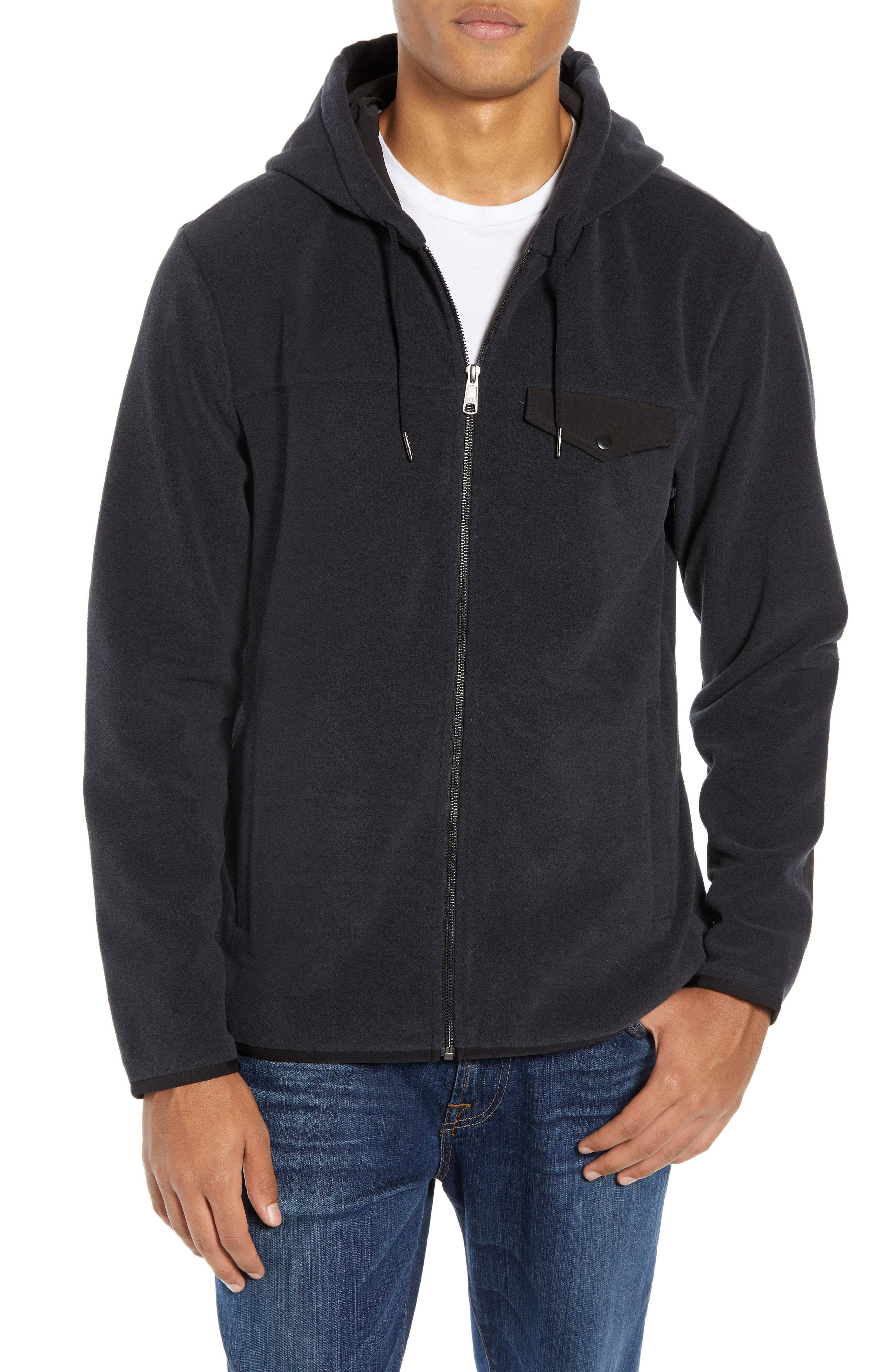 Nordstrom Men's Shop Polar Fleece Zip Hoodie