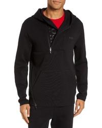 BOSS Sannok Quarter Zip Hoodie Sweatshirt