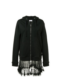 RED Valentino Sheer Panel Zipped Hoodie