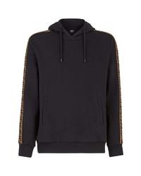 Fendi Taped Ff Motif Hooded Sweatshirt