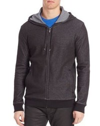 Hugo Boss Zip Up Cotton Hoodie